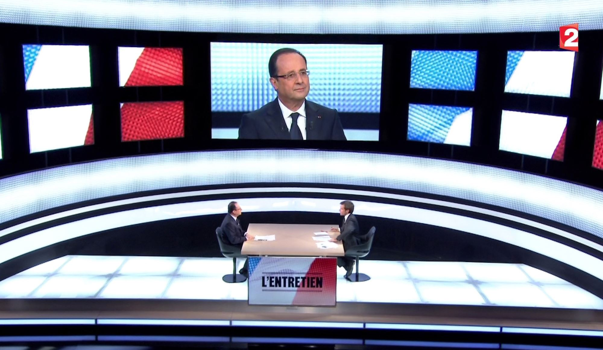 Francois Hollande sur France 2